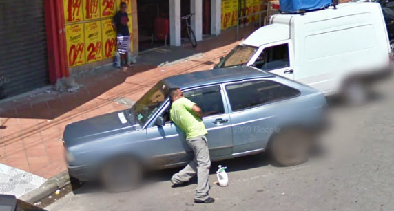 Is This Guy Stealing This Car Or Locked His Keys Inside Google