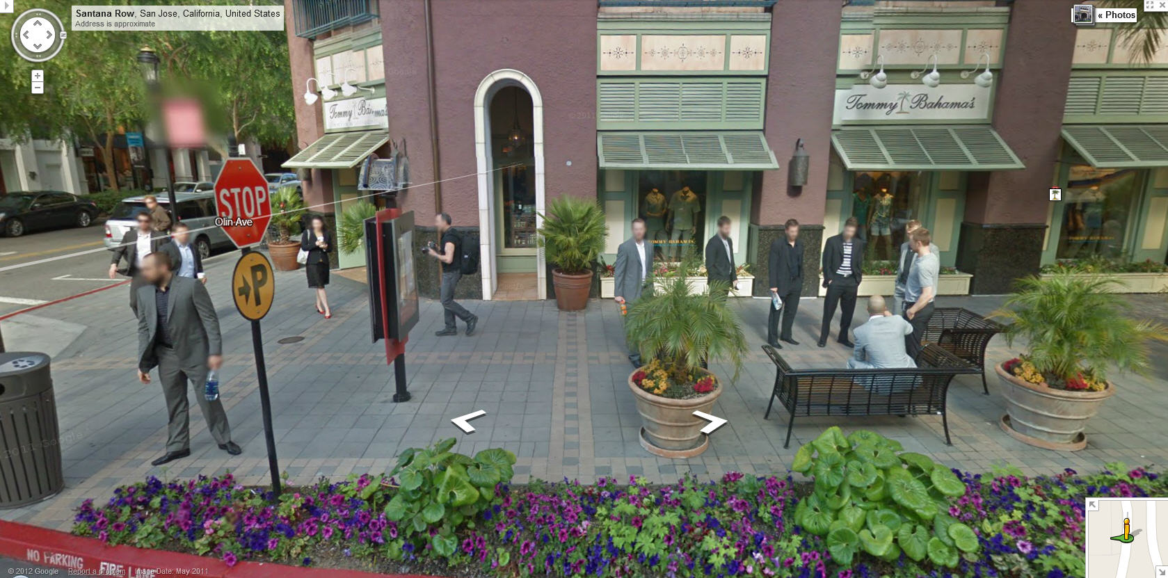 Google Street View captures the Vancouver Canucks in San Jose ... on