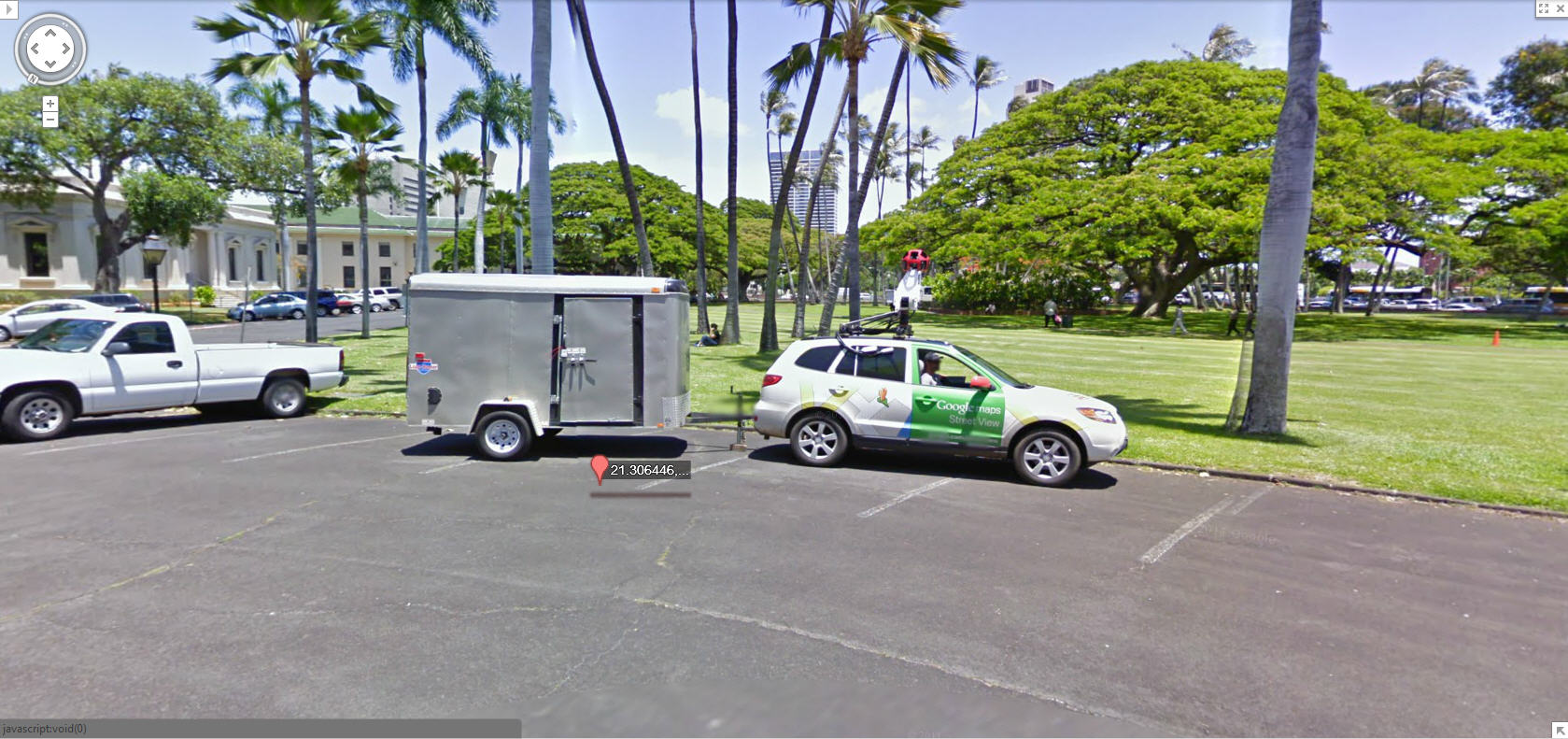 Nice Picture Of The Google Street View Car Trailer And