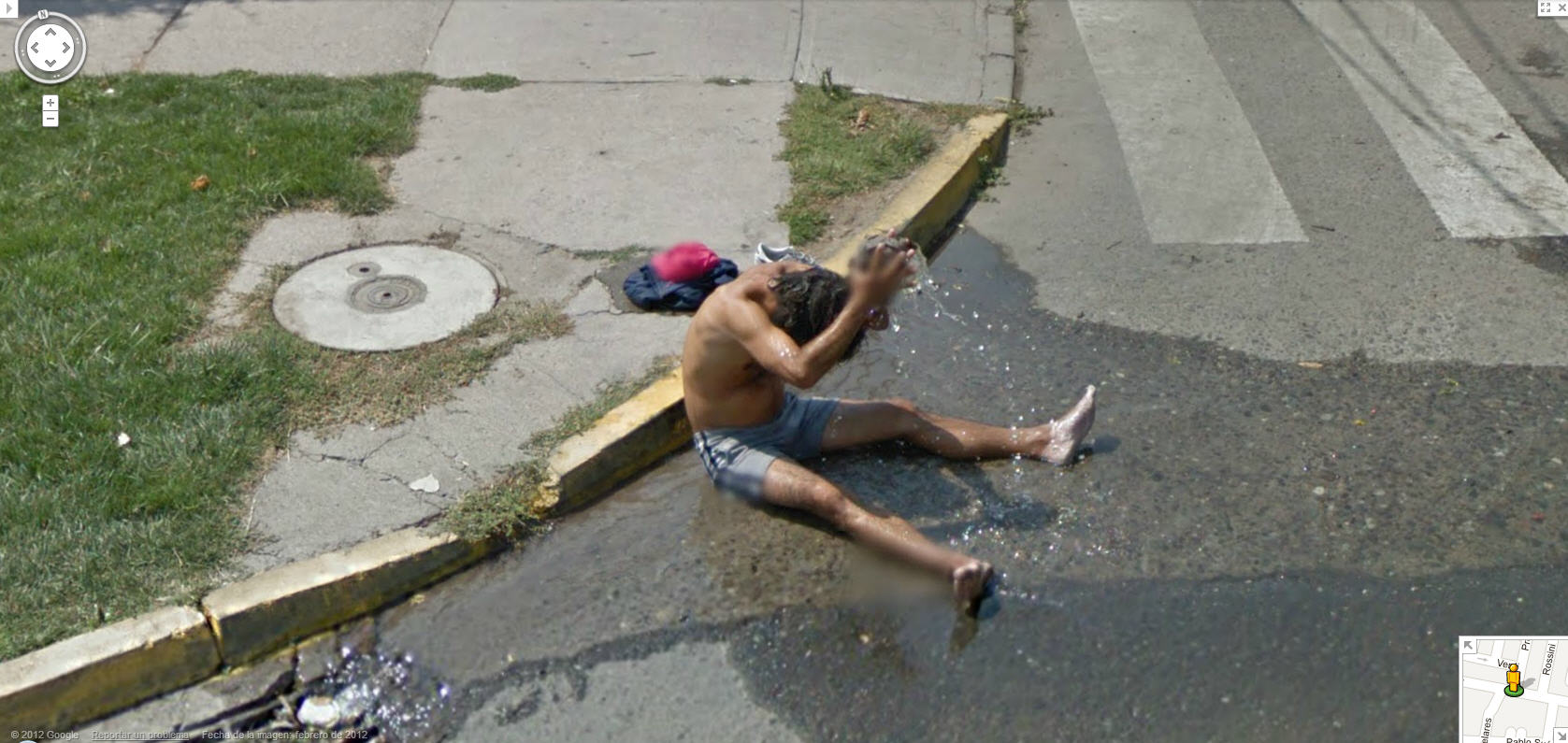 google-street-view-chile-captures-a-guy-taking-a-bath-in-the-street