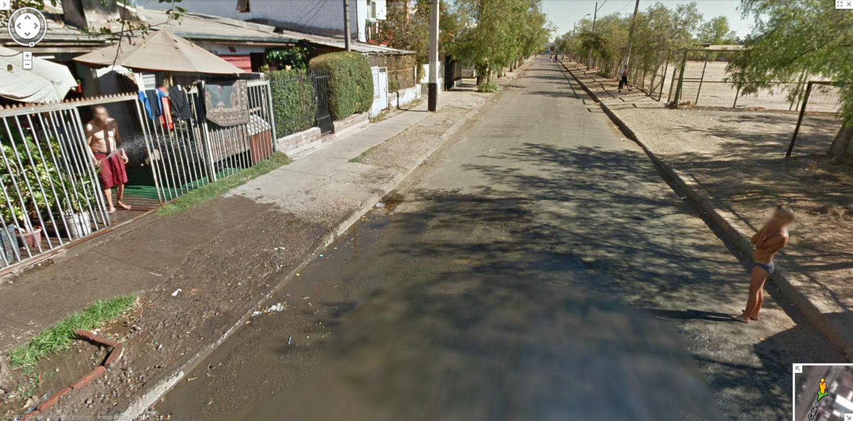Google Street View Chile Gets Caught In The Middle Of A