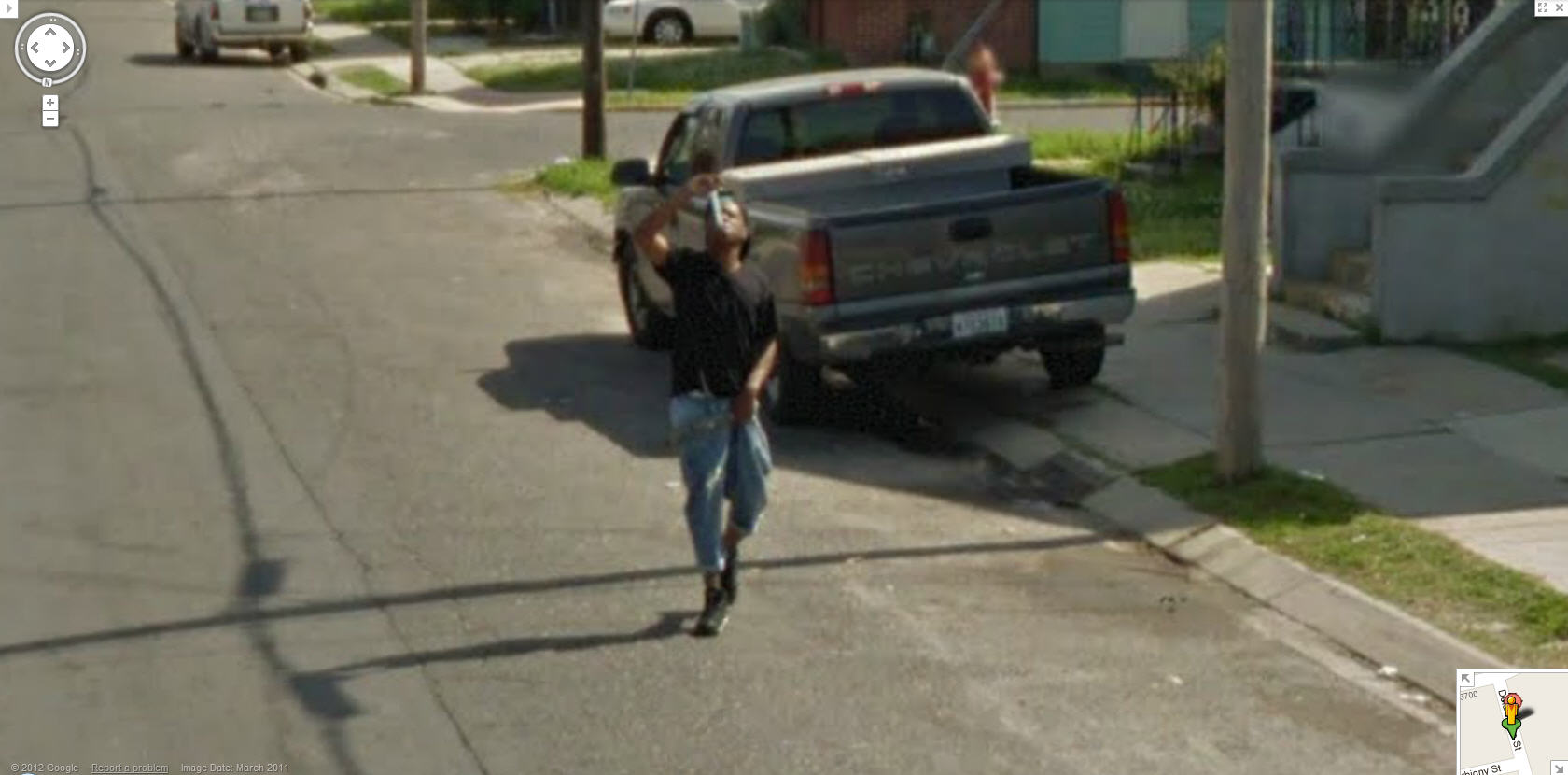 Google Street View Captures a talented young man in New Orleans