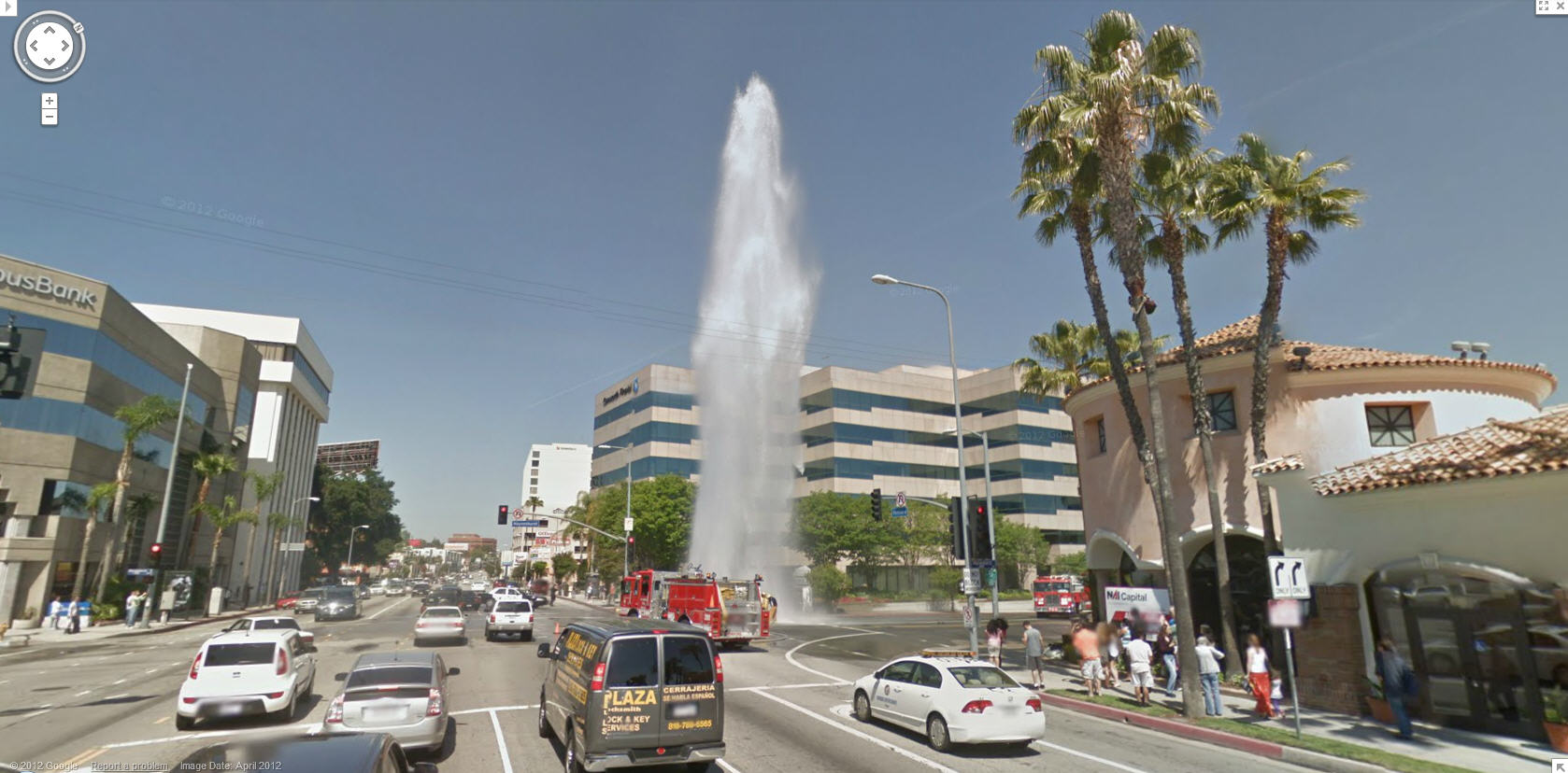 Google Captures A Broken Fire Hydrant On Ventura Boulevard In Los - Los angeles ventura map