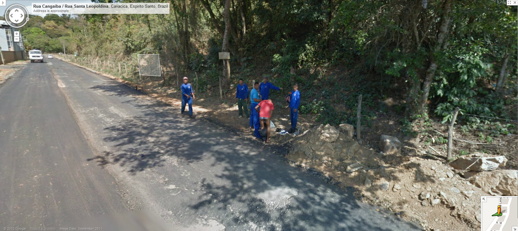 Google Street View Captures a Worker Changing Clothes in zil ... on