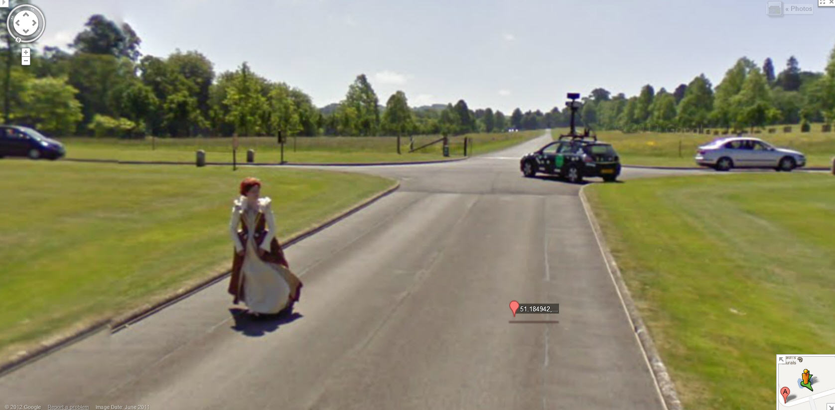Google Street View Captures Queen Mary At Longleat House In The Uk