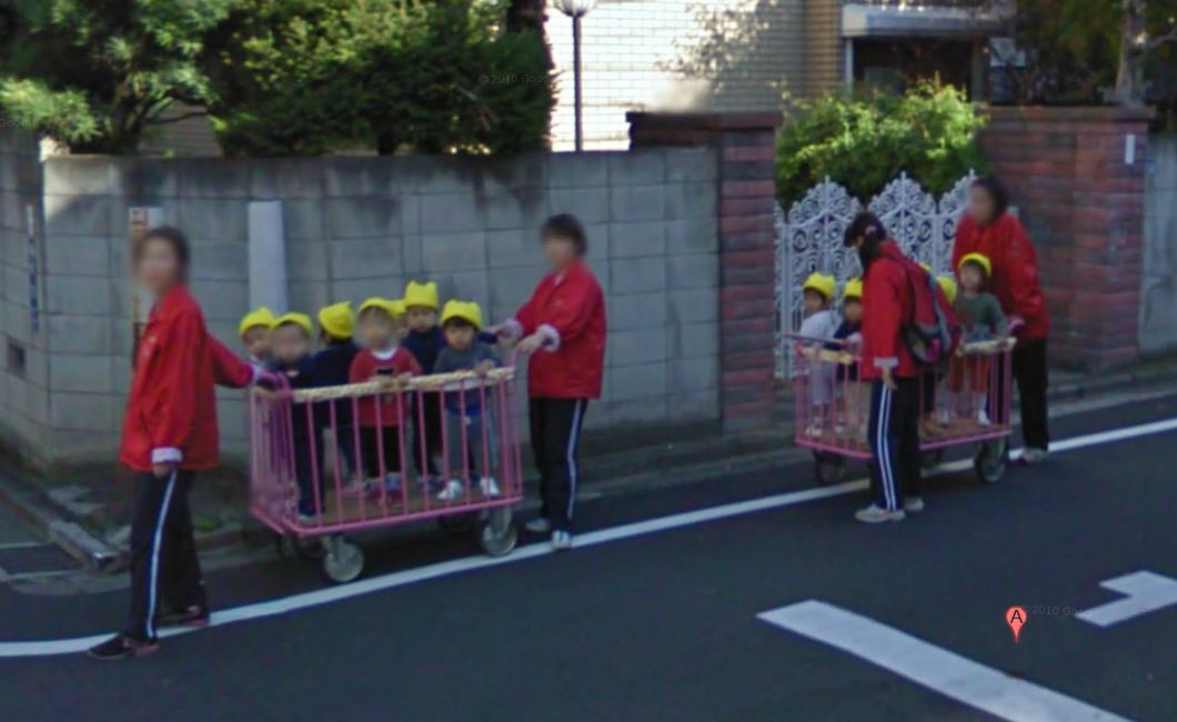 google-street-view-captures-a-couple-wagon-loads-of-kids