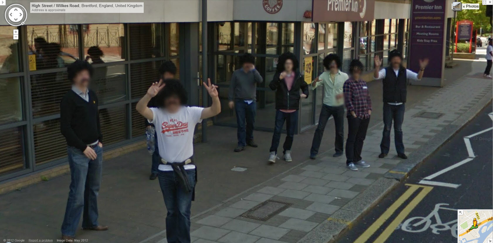 Google Street View Uk Captures A Bunch Of Guys With Afros And