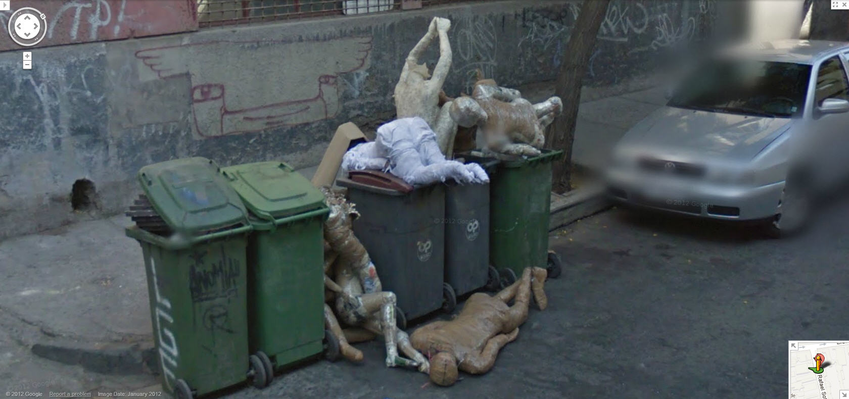 Google Street View Captures a Dumpster full of Dead Bodies in Chile