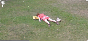 google-street-view-girl-laying-on-the-ground