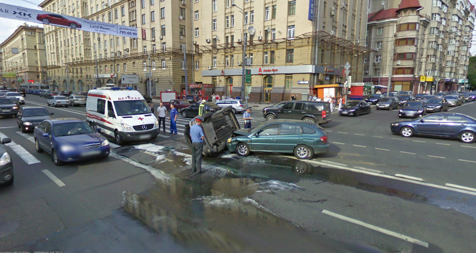 Quite An Accident Hope No One Was Hurt Google Street