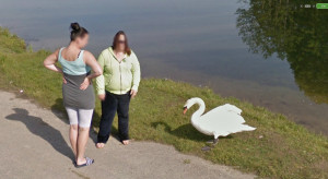 google-street-view-lithuania-swan