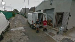 Pants Pulled Down on Google Street View
