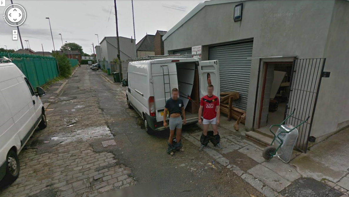 how to find google street view