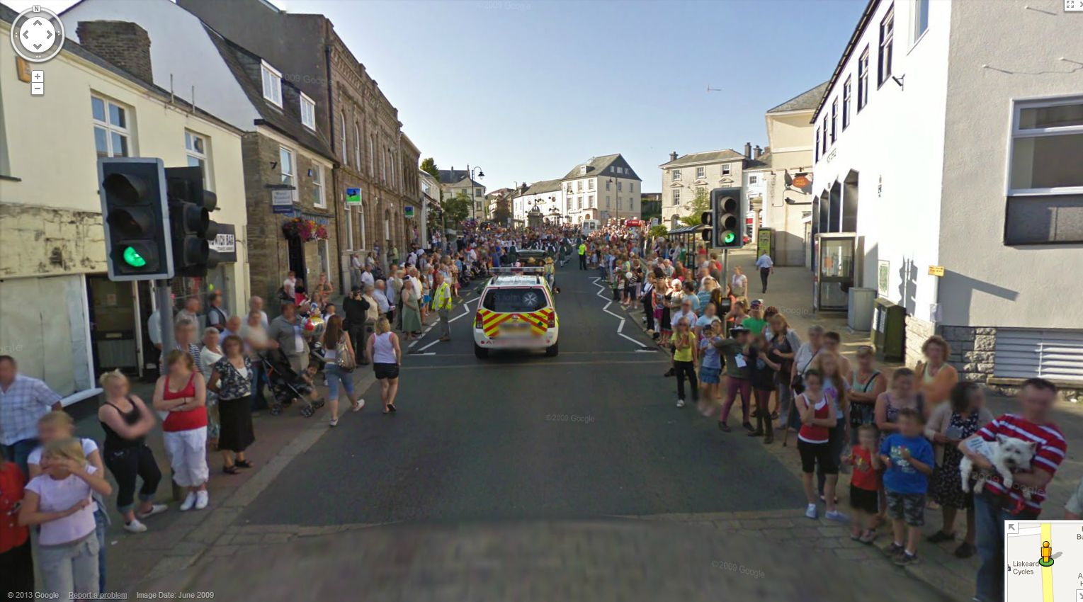 street view caught in a parade again 1 year ago by google street view ...