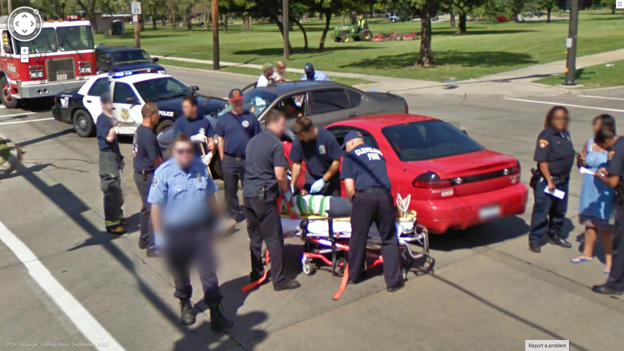 Accident in Cleveland | Google Street View World | Funny ...