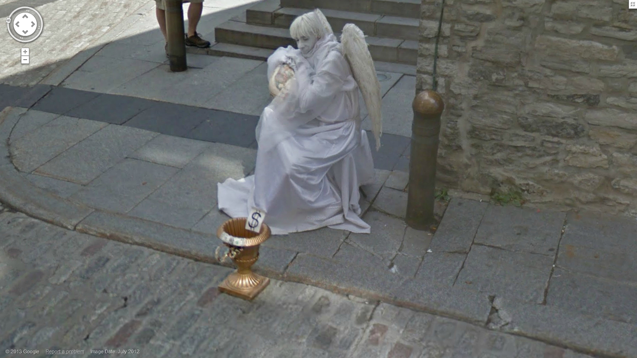 Creepy Angel Google Street View World Funny Street View - 29 weird and unexpected things you can find on google street view