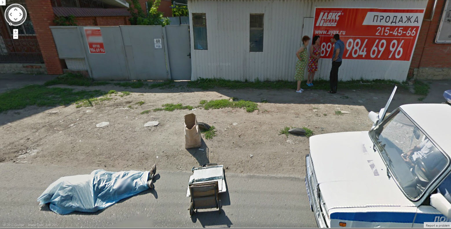 Google Street View Captures a Dead in Russia | Google Street ... on google maps dead, google trekker, google earth dead,