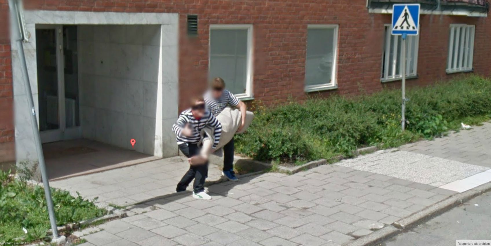 Suious Jailbirds Carrying Off a Dead Body | Google Street View ... on