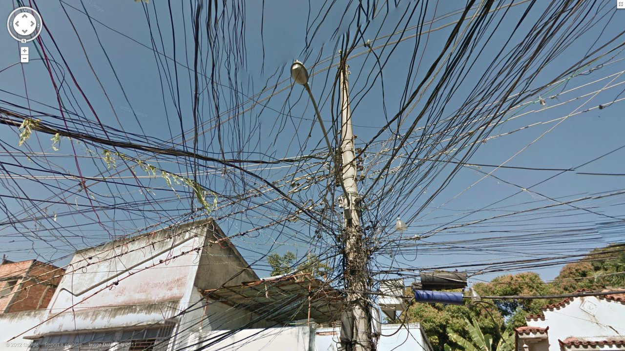 Spaghetti Wiring in Brazil | Google Street View World