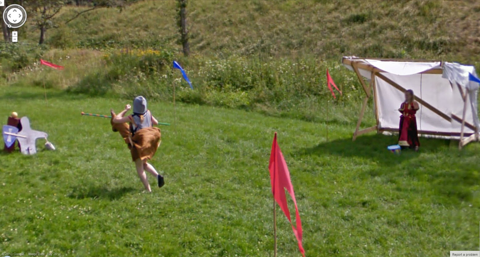 Danish Jouster Saving a Maiden