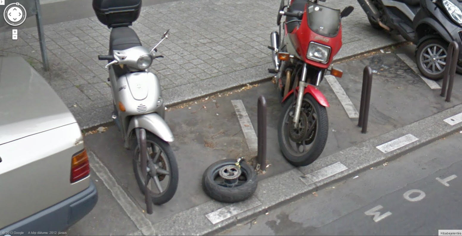 Not much left of this guys scooter