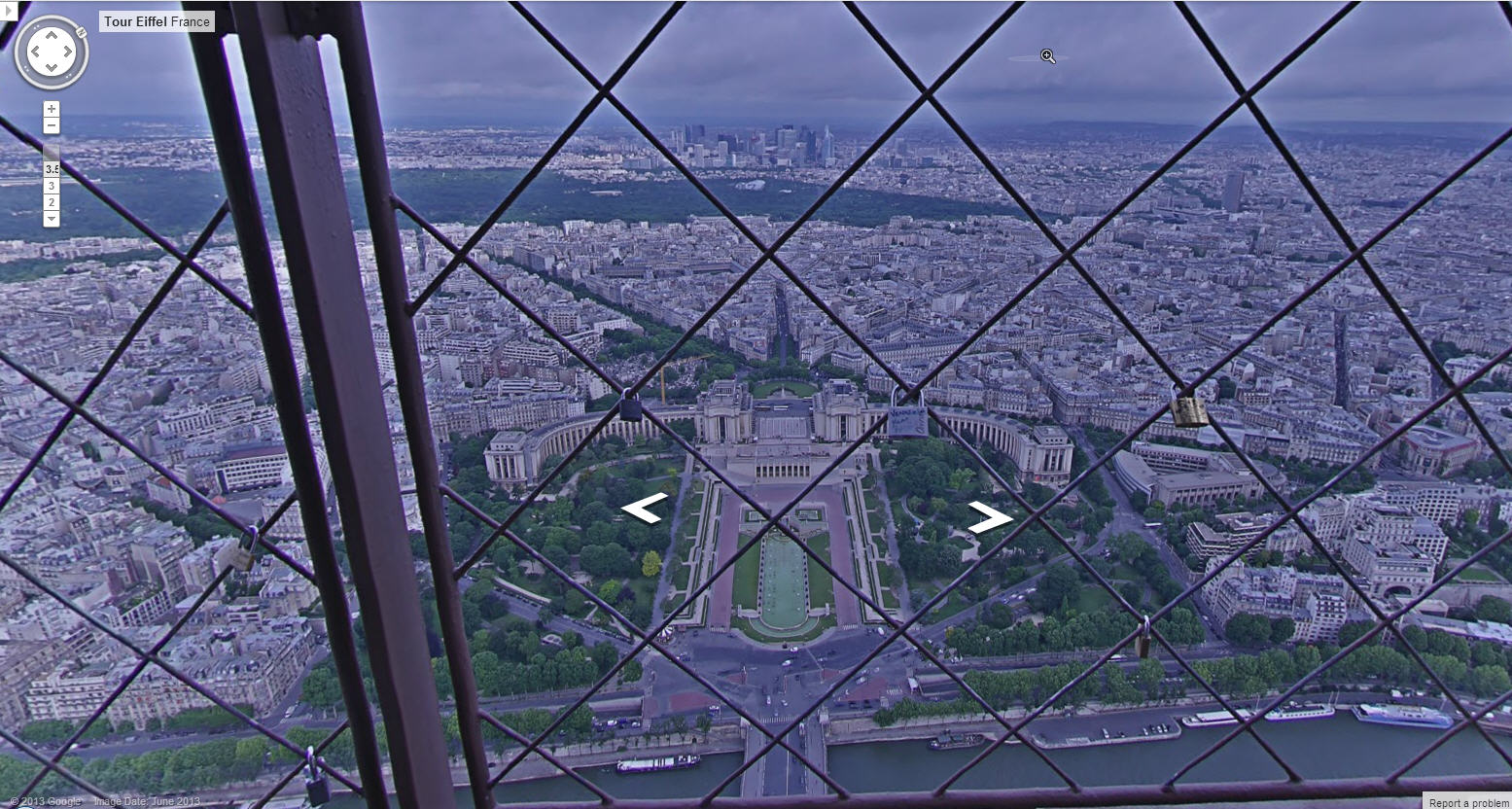 Google eiffel tower view google street view world for Floors of the eiffel tower