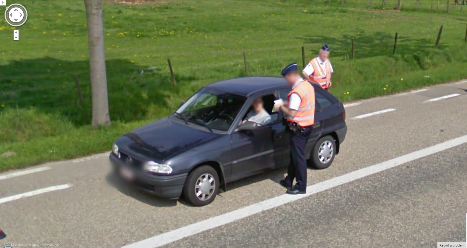 Priceless – Caught Getting a Ticket on Google Street View