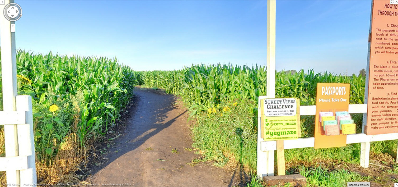 Solve a Corn Maze via Google Street View!