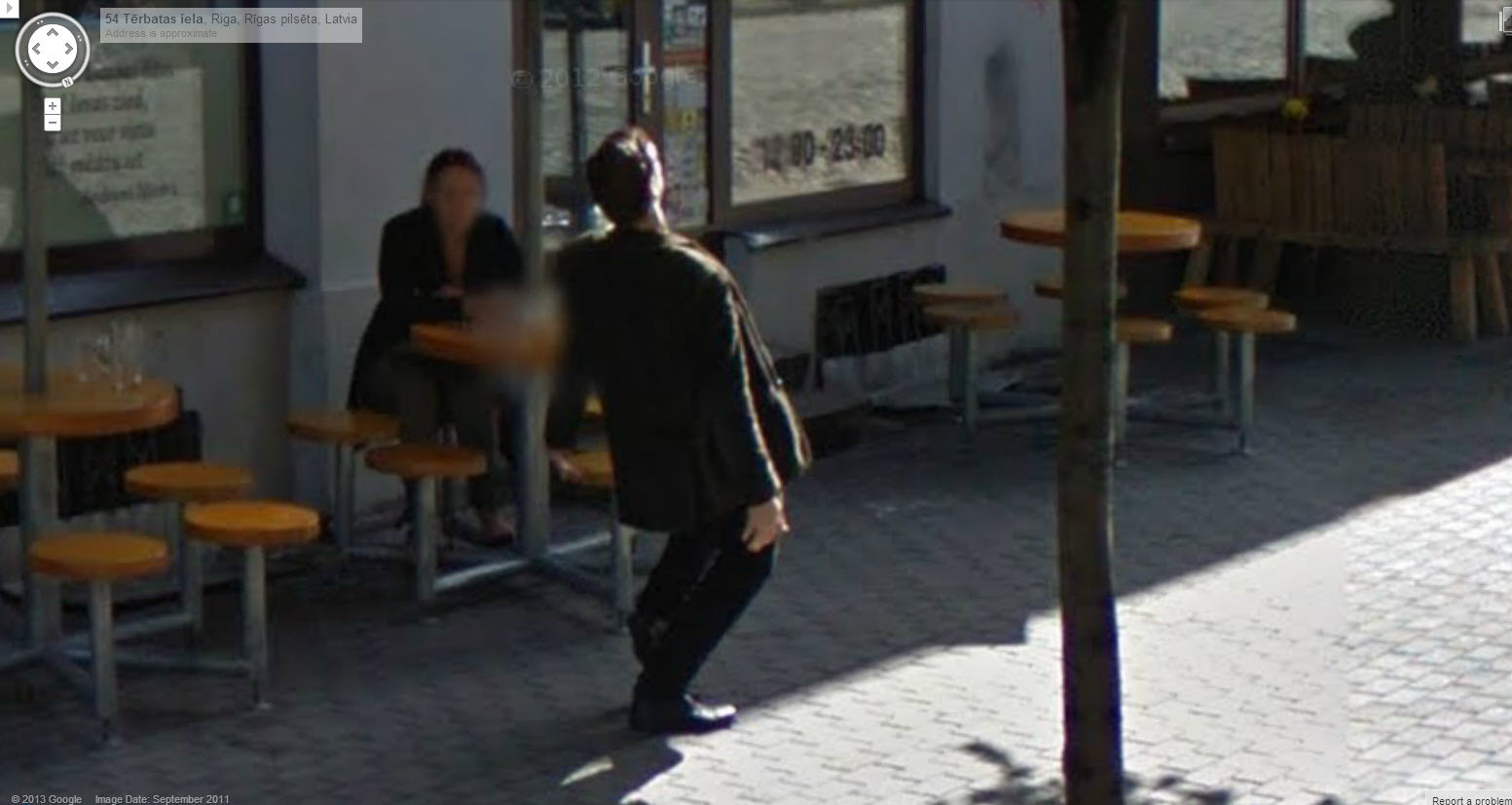 Guy Dancing for the Camera