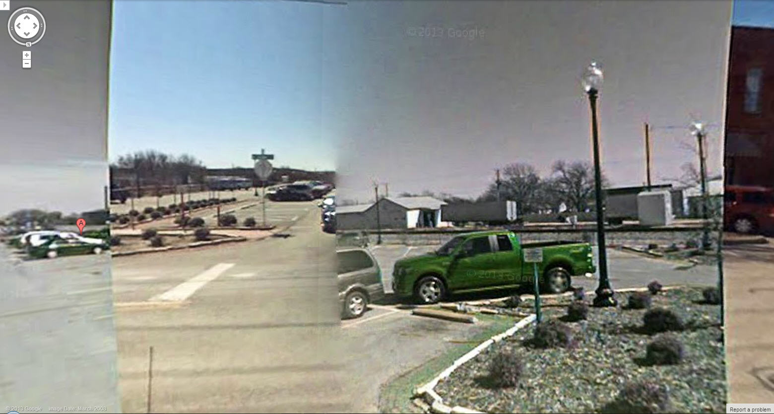Trippy Google Street View Glitch