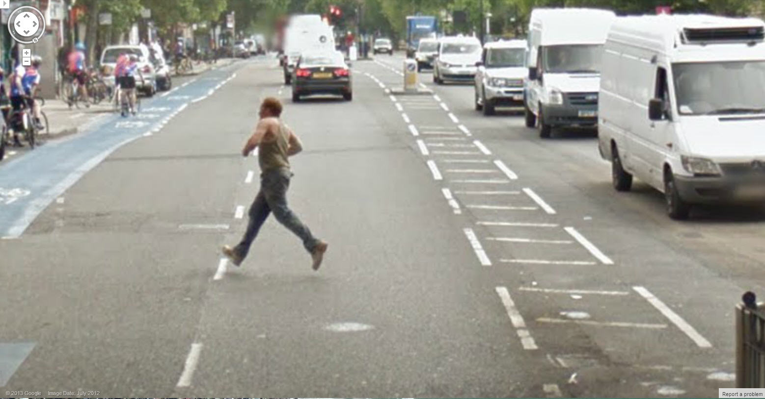 Google Street View Captures a Guy Walking on Air – Literally!