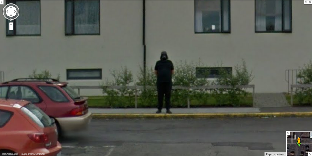 halloween costume or google prank google street view world