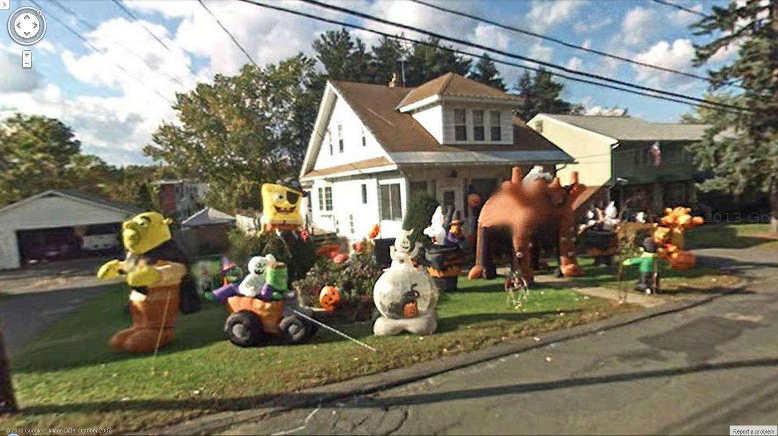 crazy halloween fans google street view world