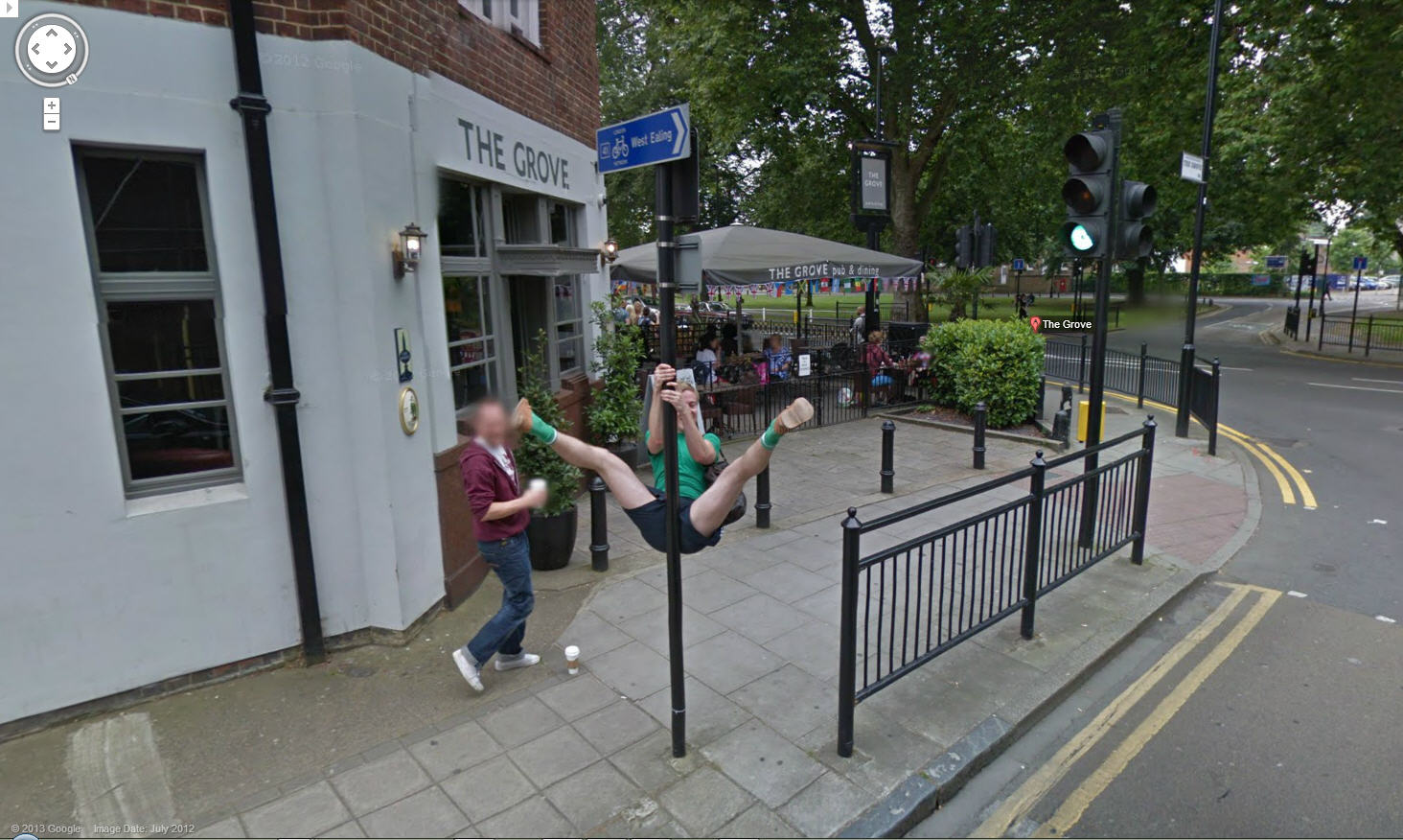 google street view pole dancer google street view world. Black Bedroom Furniture Sets. Home Design Ideas