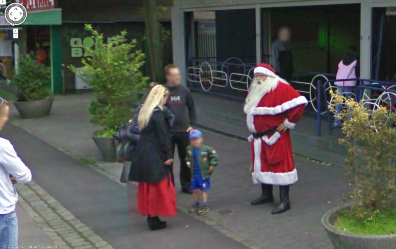 Google Street View Captures a Danish Santa