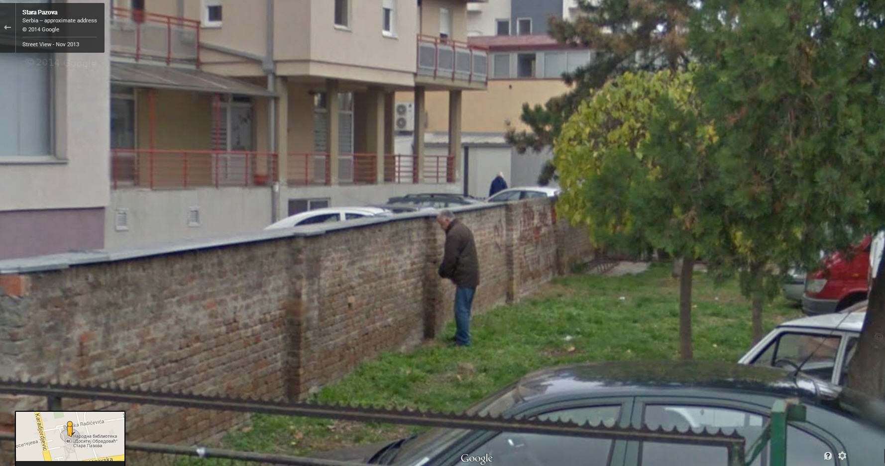 Another Serbian Fellow Taking a Pee