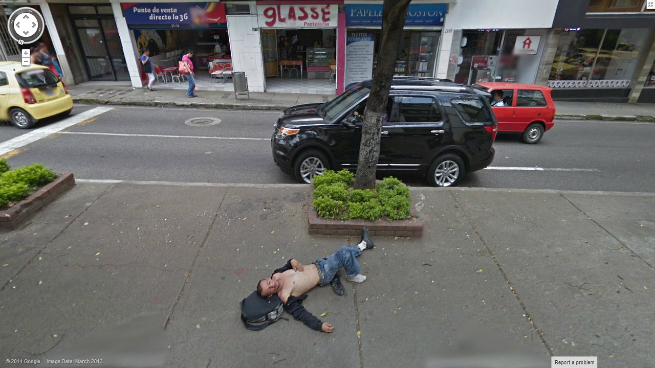 Down and Out on Google Street View