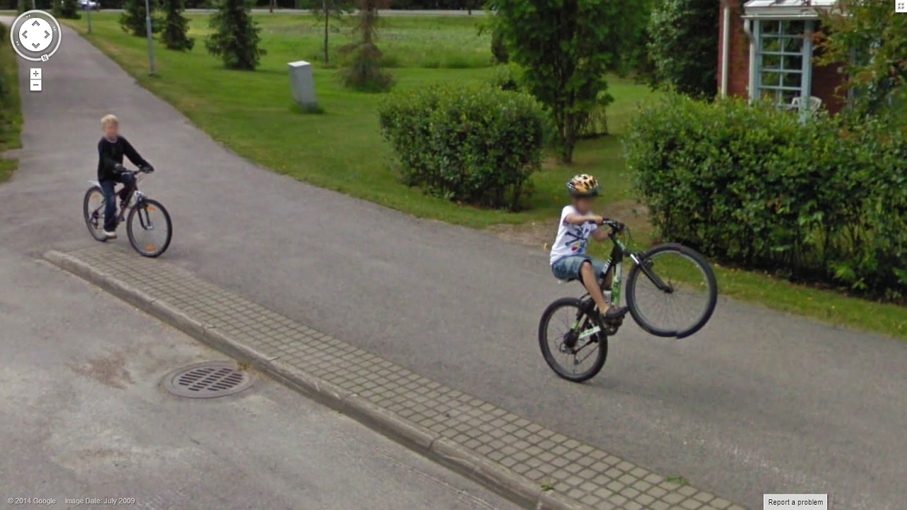 Another nice Wheelie for Google Street View
