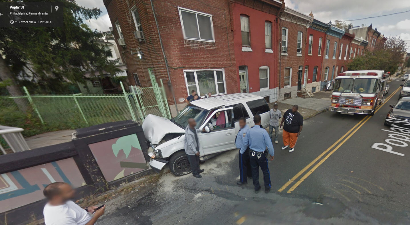 Google Street View Captures a Bad Accident in Philly…
