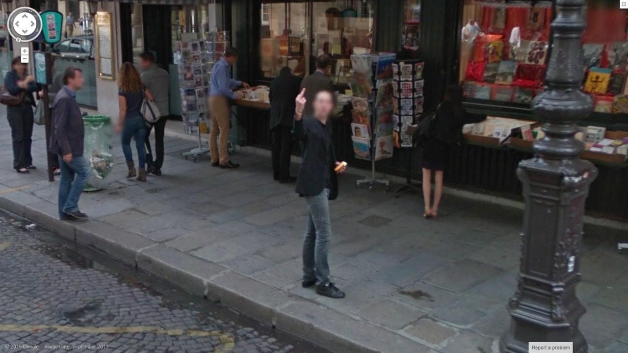 Google Street View gets the bird (once again)