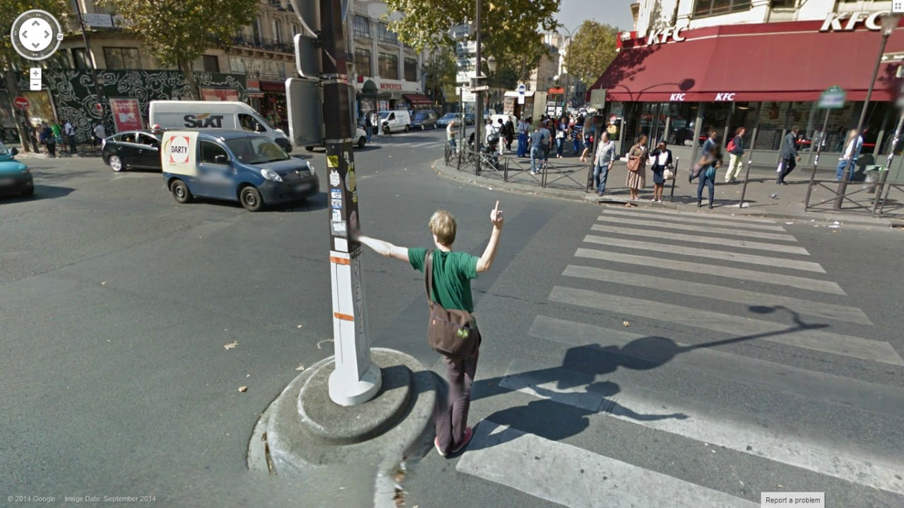 Talented Google Street View Greeter