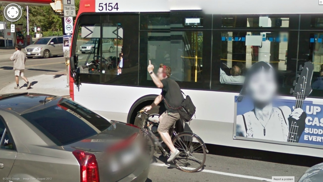Talented Cyclist care of Google Street View
