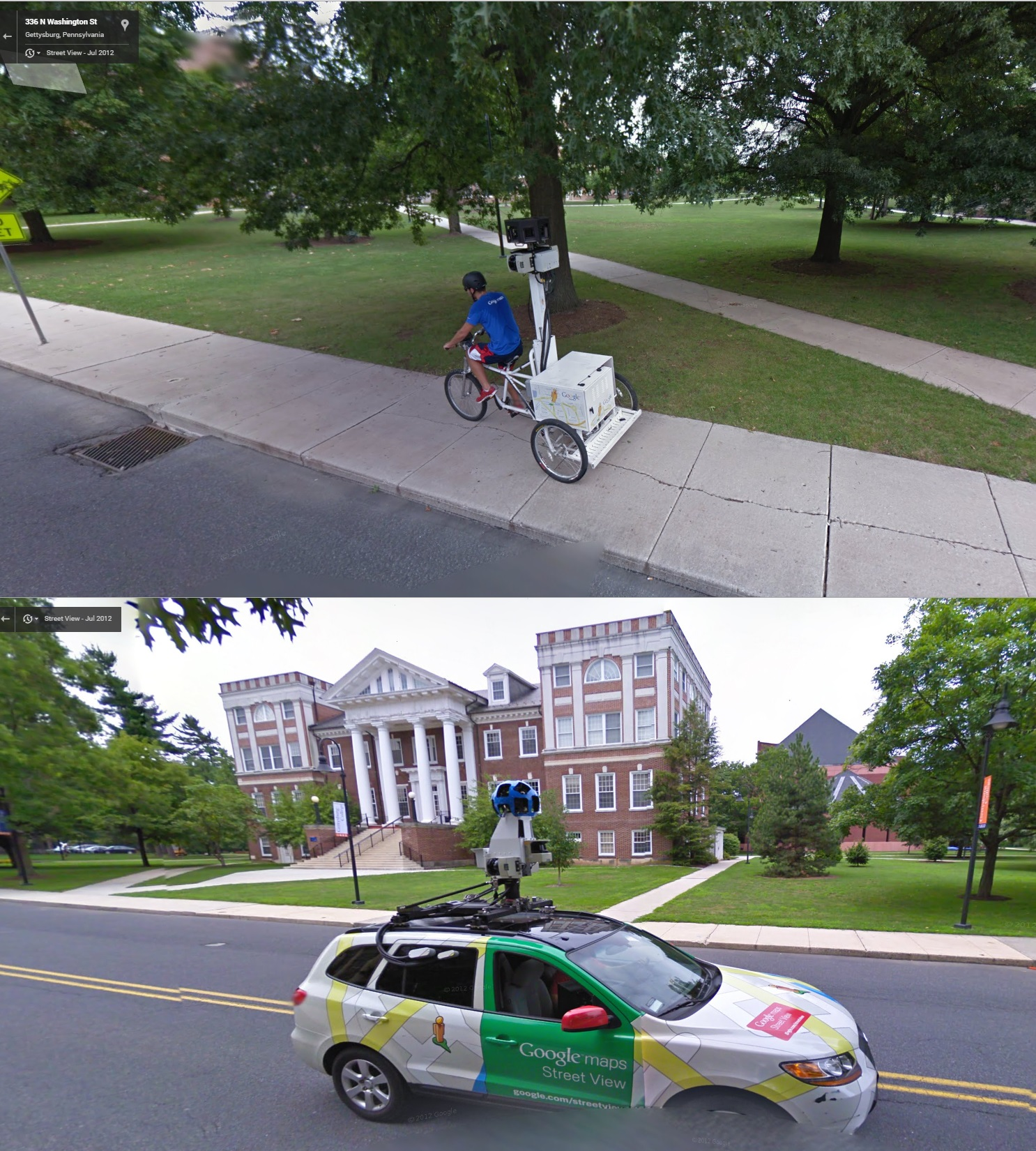Google Street View Takes Another Selfie!