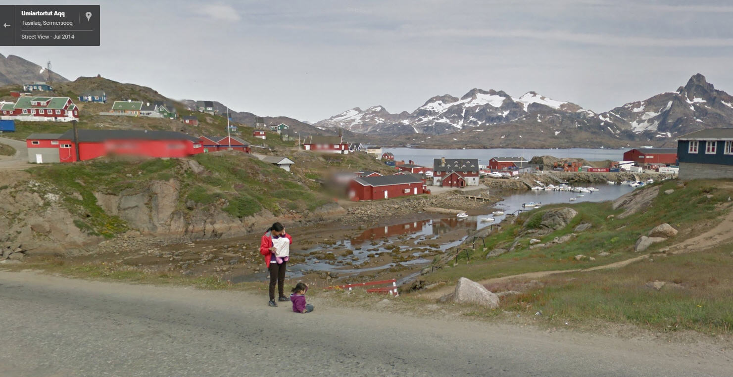 google street view greenland. Black Bedroom Furniture Sets. Home Design Ideas