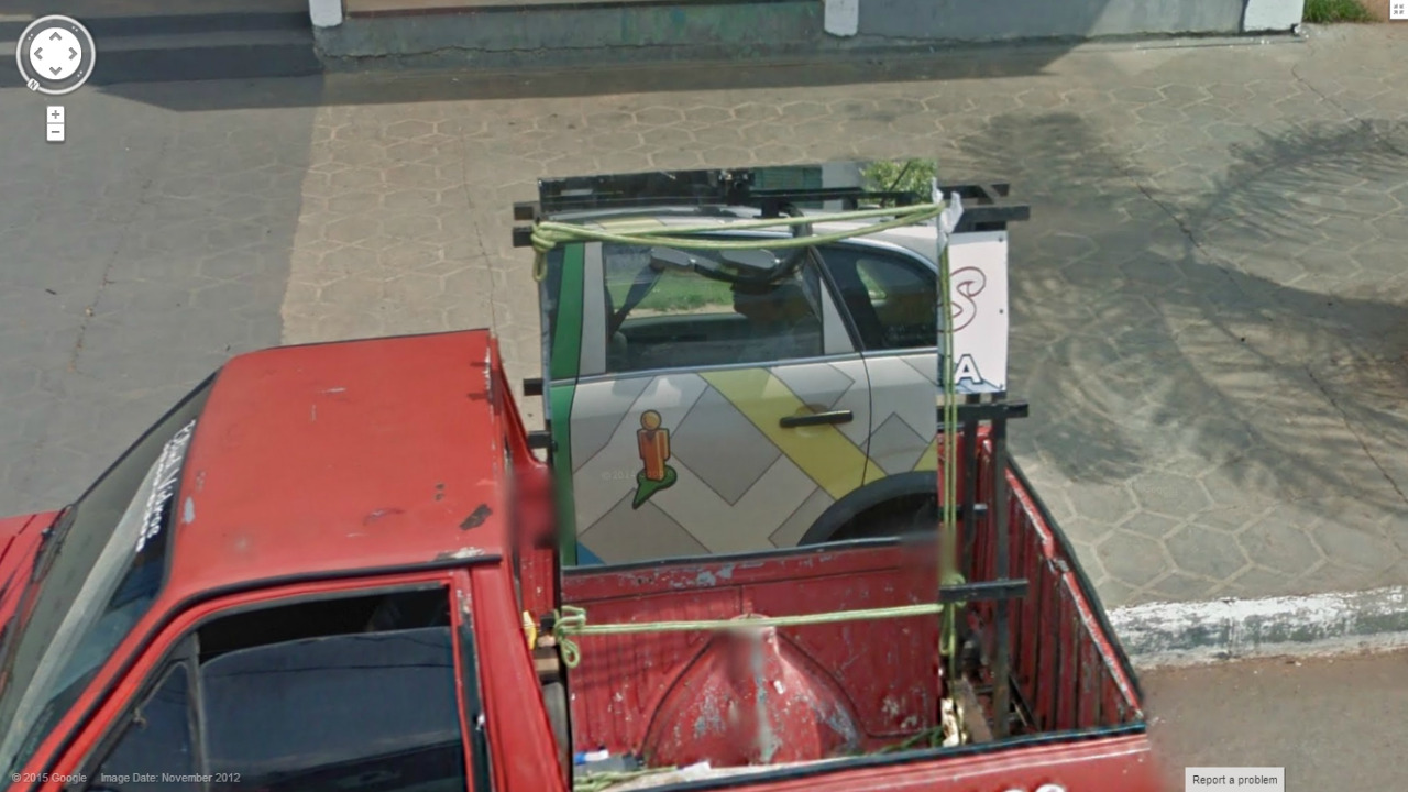 Cool Google Street View Car Reflection