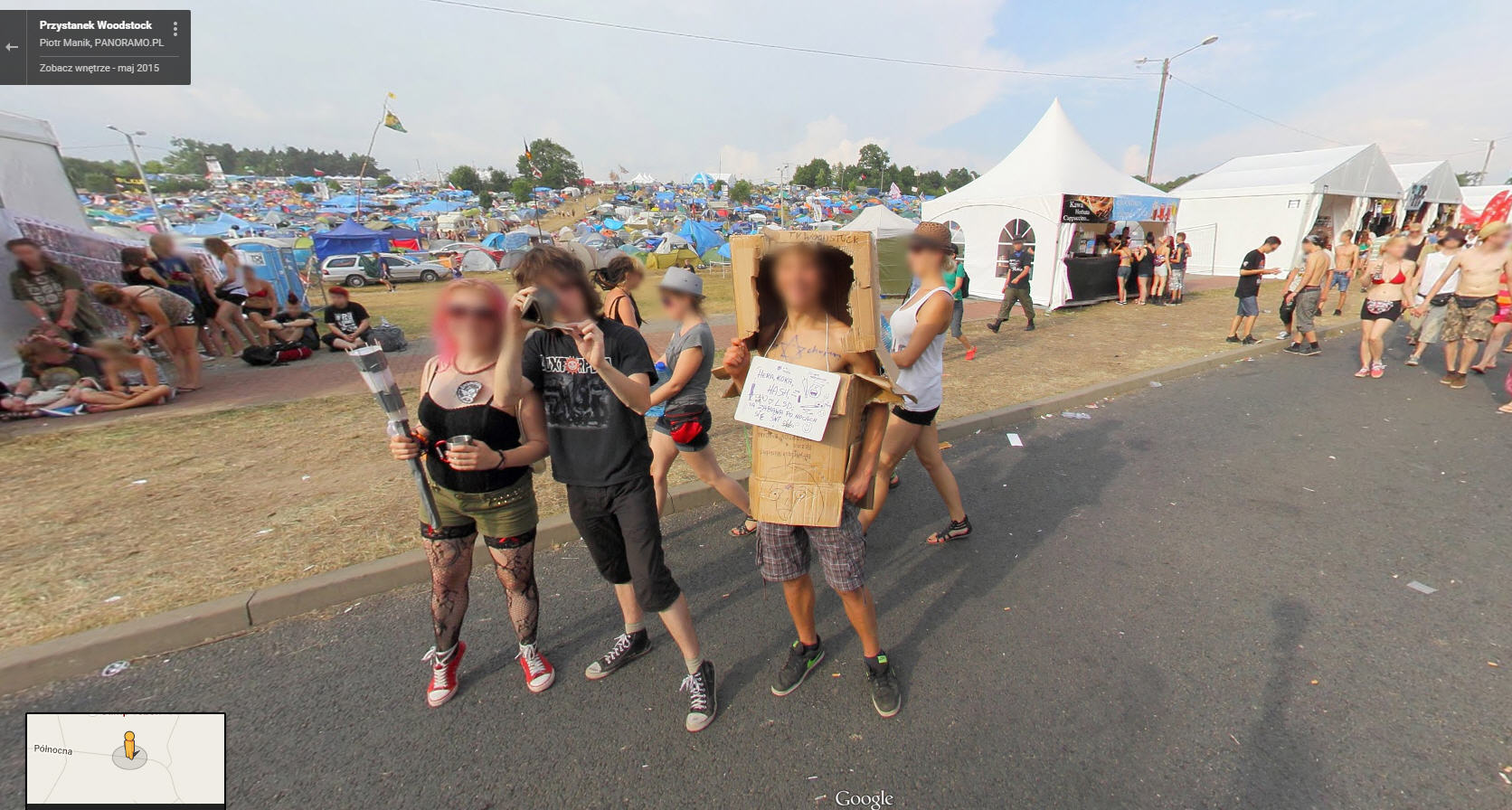 Crazy people at the Polish Version of Woodstock…