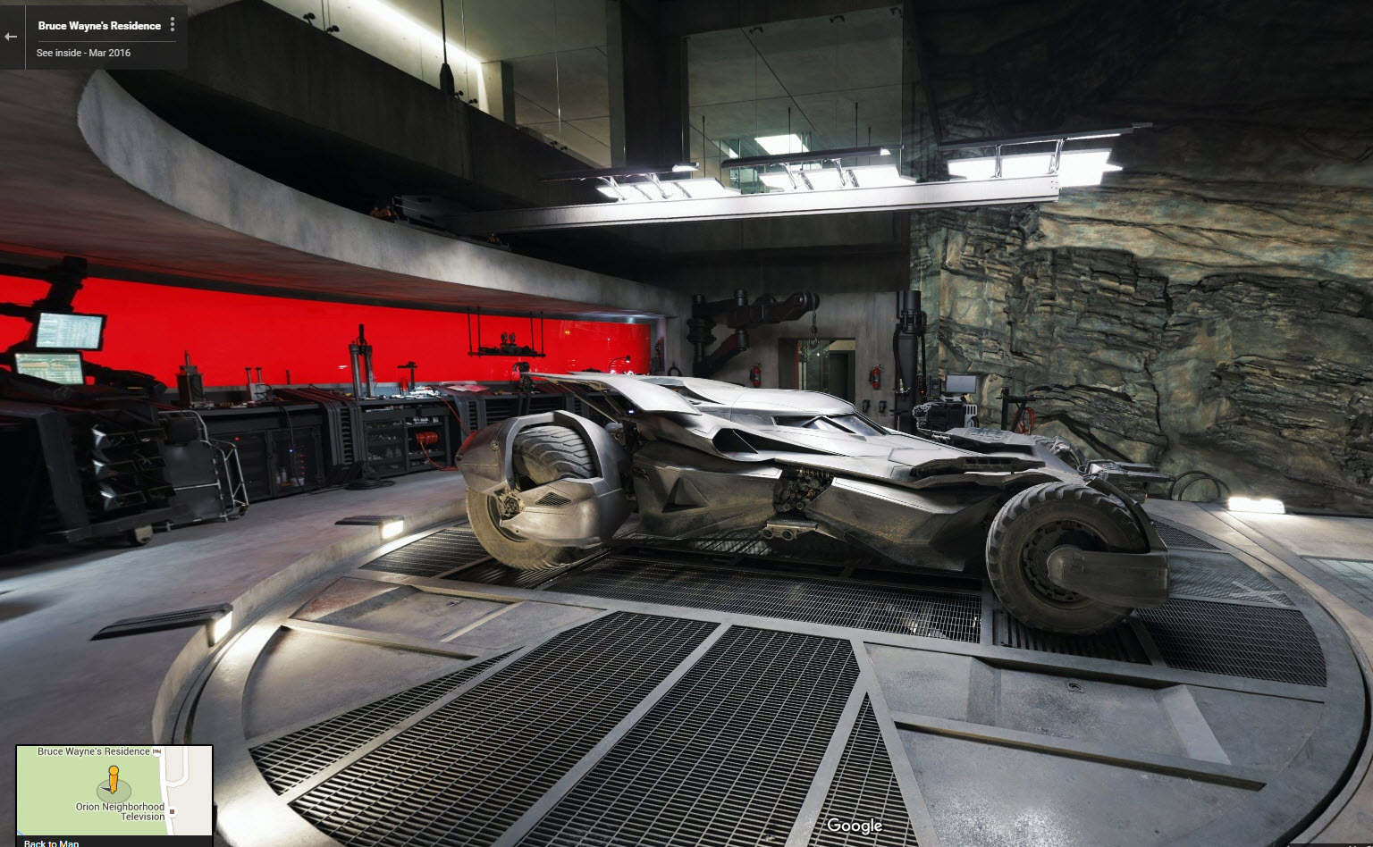 Google Street View Bat Cave Now Live