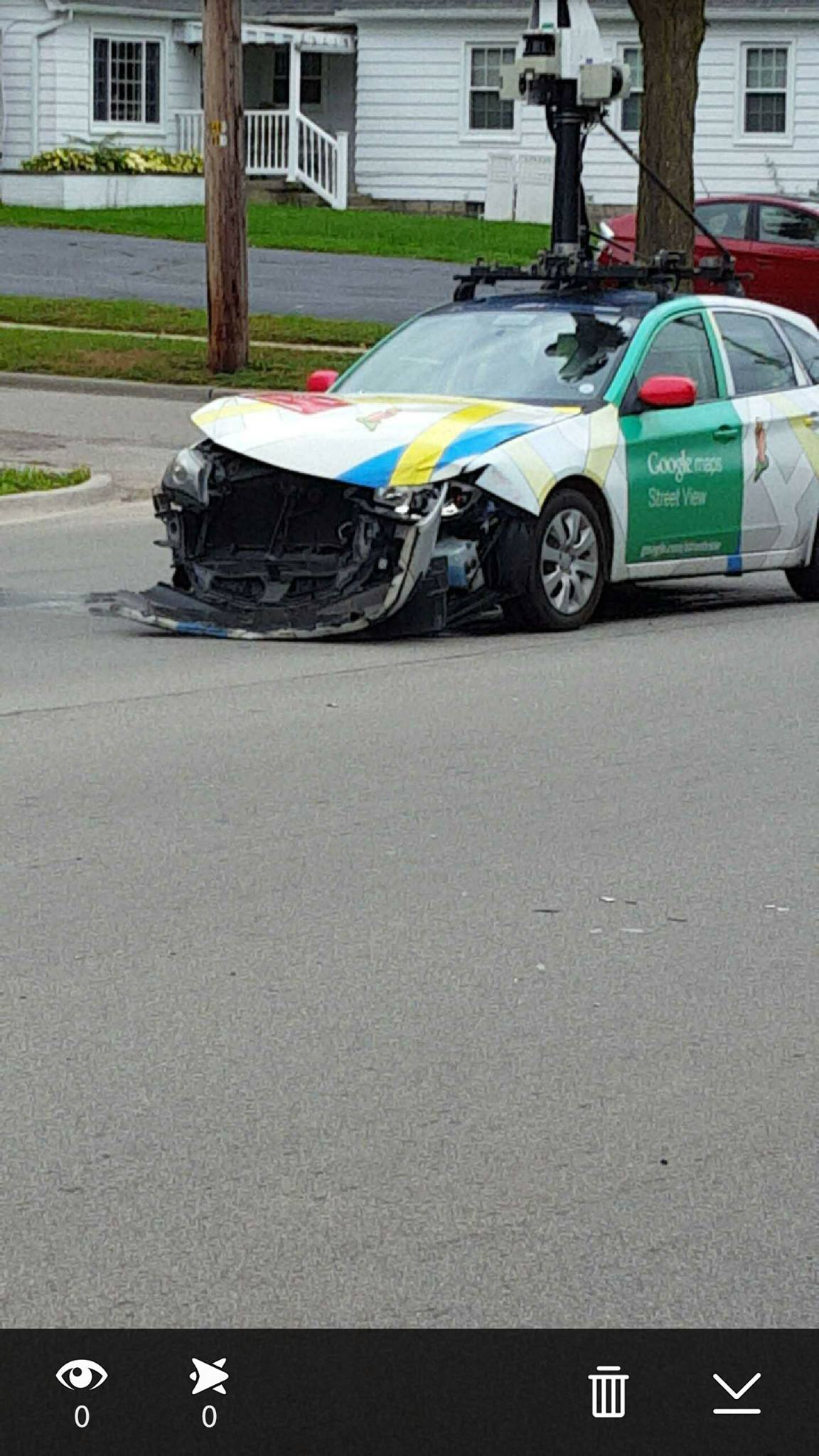 Google Street View Car Crashes in Grand Rapids Michigan