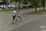 Now these guys are seriously happy to be featured on Google Street View!