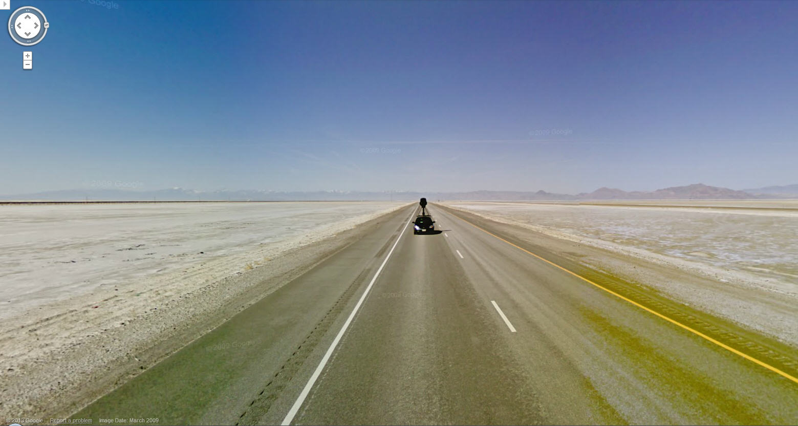 Cool Shot of the Google Street View Car in the Arizona Desert